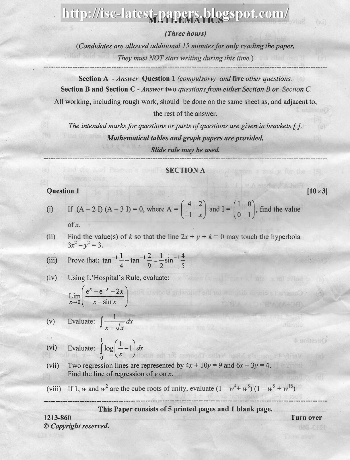 CIE – A Level Mathematics Paper 1 (9709) – Pure Mathematics 1 past papers